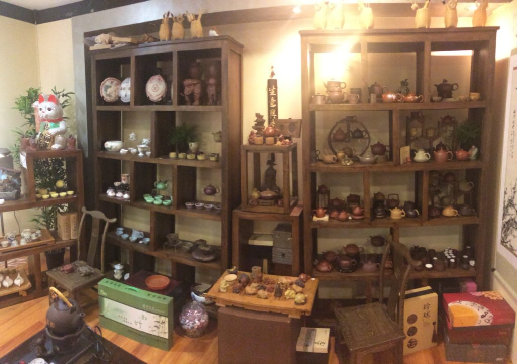 Backrow with Yixing tea pots and more